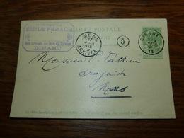 Entier Postal Carte  Cachet  Marcophilie Pharmacien Emile Ferage Dinant 1903 - Werbepostkarten