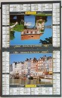 Calendrier Du Facteur La Poste Ptt Année 2002 ISERE Thème Honfleur Et Vernon - Calendriers
