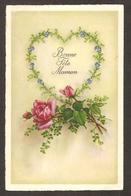"""Belle Carte """" Bonne Fête Maman """"dans Un Coeur Et Roses ( Nr 672 ) - Fête Des Mères"""