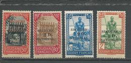 SOUDAN FRANCAIS Scott B7-B10 Yvert 125-128 (4) *LH Gomme Coloniale 28,00 $ 1941 - Soudan (1894-1902)
