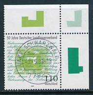 GERMANY Mi. Nr. 1988 50 Jahre Deutscher Landfrauenverband - Eckrand Oben Rechts - Used - [7] République Fédérale