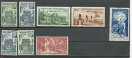SOUDAN FRANCAIS Scott 118-119, B14-B15, CB1-CB4 Yvert 129-130, 133-134, PA6-PA9 (8) * 6,40 $ 1941-4 - Neufs
