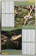 Almanach Calendrier Du Facteur La Poste Ptt Année 2001 ISERE Thème Chenonceaux Villandry - Calendriers