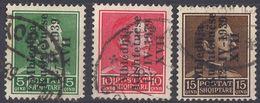 ALBANIA - 1939 - Tre Valori Usati: Yvert 256C/256E. - Albania