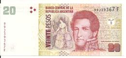 ARGENTINE 20 PESOS ND2015 AUNC P 355 - Argentine