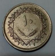 LIBYE - 10 DIRHAMS - 1975 - 1395 - KM 14 - AUNC - Agouz - Libya