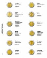 Lindner MU2E19 Multi Collect Vordruckblatt Für 2 Euro-Gedenkmünzen: Portugal 2017 - Luxemburg 2017 - Supplies And Equipment