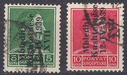 ALBANIA - 1939 - Due Valori Usati: Yvert 256C/256D. - Albania