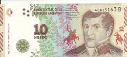 ARGENTINE 10 PESOS ND2016 AUNC P 360 - Argentine