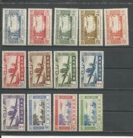SOUDAN FRANCAIS Scott C1-C5, C6-C13 Yvert PA1-PA5, PA10-PA17 (13) *LH 12,00 $ 1940-2 - Neufs