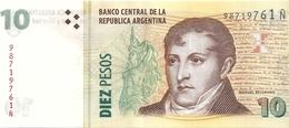 ARGENTINE 10 PESOS ND UNC P 354 - Argentine