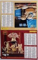 Almanach Calendrier Du Facteur La Poste Ptt Année 2002 ISERE Thème Chaton Chiot - Calendriers