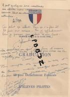 MENU - MILITARIA - AVIATION - 1945 - ESCADRILLE FRANCAISE - TURNER FIELD - 13e Détachement D'elèves Pilotes - Menus