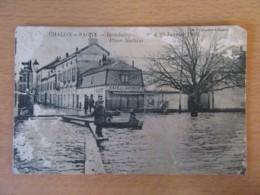 Chalon Sur Saône - Inondations Des 24 & 25 Janvier 1910 - Place Mathias - Carte Animée Non-circulée - En L'Etat - Chalon Sur Saone
