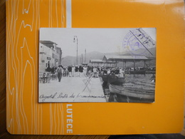 CARTE PHOTO GRECE ARGOSTOLI CEPHALONIE MILITAIRES SORTIE DES PERMISSIONNAIRES  SERVICE A LA MER 09/08/1916 TTB ETAT - Grèce
