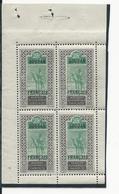 SOUDAN FRANCAIS Scott 31a Yvert Bloc Du 27 (bloc) ** 575,00 $ 1921 TRES RARE Dans Cet état - Soudan (1894-1902)