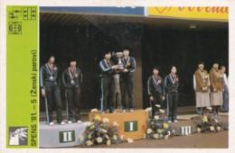 SPENS 81' YUGOSLAVIA-SVIJET SPORTA CARD - Tennis Tavolo