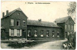 Ollignies (Lessines). Les écoles Communales. Circulé En 1912. Woelingen (Lessen). De Gemeentescholen. Verstuurd In 1912. - Lessines