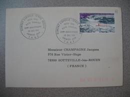 TAAF Lettre  Dumont D'Urville - Terre Adélie   N° 65  Du 25/12/1981  Pour La France  Base Charcot - French Southern And Antarctic Territories (TAAF)