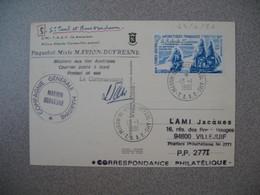 TAAF Carte Martins De Vives  N° 58  Du 13/1/191 Cie Générale Maritime Marion Dufresne Paquebot Courrier Posté à Bord - French Southern And Antarctic Territories (TAAF)