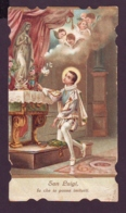 San Luigi Gonzaga Fa Che Io Possa Imitarti, Vecchio Santino Sagomato Con Preghiera - Religion & Esotérisme