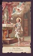 San Luigi Gonzaga Fa Che Io Possa Imitarti, Vecchio Santino Sagomato Con Preghiera - Religion &  Esoterik