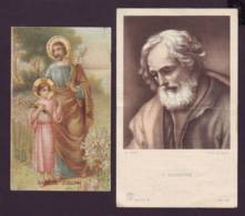 Sancte Joseph-s. Giuseppe, 2 Vecchi Santini Con Preghiera Foto Alinari Serie B 59 (il Grande) - Religion & Esotérisme