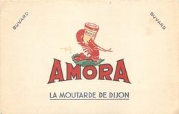 Buvard Ancien MOUTARDE AMORA DE DIJON - Moutardes