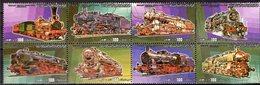 Eisenbahn 1984 Libya 1321/8 ** 18€ Loks Dampf-Lokomotiven In Tripolis/Libyan Hojita S/s Bloc M/s Sheet Set Bf Train - Sonstige (Land)
