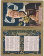 LEFEVRE-UTILE - Hyppolite Berteaux, Anatole Le Braz - BRETAGNE, BRETONNE, COSTUME, POEME, POESIE - Bon Etat (voir Scan) - Calendriers