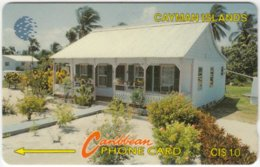 CAYMAN ISLANDS A-027 Magnetic Cable & Wireless - View, House - 8CCIC - Used - Cayman Islands