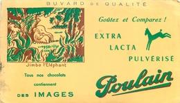 Buvard Ancien CHOCOLAT POULAIN - JIMBO L ELEPHANT - Chocolat