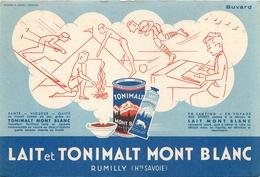 Buvard Ancien PRODUIT LAITIER MONT BLANC - LAIT ET TONIMALT - RUMILLY - Produits Laitiers