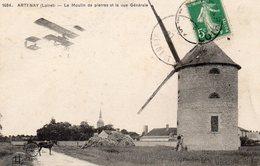/ Artenay - Le Moulin De Pierres Et La Vue Générale - Artenay