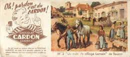 Buvard Ancien CHOCOLAT CARDON - CAMBRAI - Cocoa & Chocolat