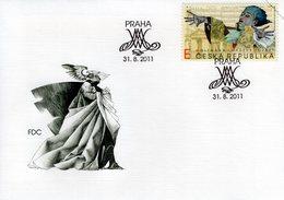 CZECH REPUBLIC  - 2011 Wolfgang Amadeus Mozart, 1756-1791 - Self Adhesive FDC6039 - FDC