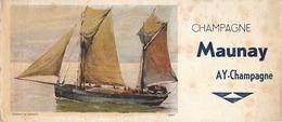 Buvard Ancien CHAMPAGNE MAUNAY - AY - Liqueur & Bière