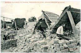 Lessines. Carrières De Porphyre. Fabrication Des Pavés. Ouvriers épinceurs Au Travail. Circulé 1911. Lessen. Steengroeve - Lessines