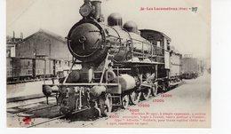 LES LOCOMOTIVES  (Etat) Machine N°2907 Type Atlantic Baldwin Pour Trains Rapides Construite En 1900. - Trains
