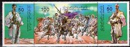 Jubiläum 1984 Revolution LAR 1405/7 3-ZD ** 3€ Oberst Gaddafi And Evacuation Hb M/s Military S/s Se-tenant Bf Libye - Libya