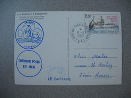 TAAF  Carte   Port Aux Français Iles Kerguelen    N° 100  Du 17/3/1983   L'Austral  Chalutier Usine De Grande Pêche - French Southern And Antarctic Territories (TAAF)
