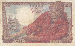 Billet 20 F Pêcheur Du 10-3-1949 FAY 13.14 Alph. R.216 - 1871-1952 Anciens Francs Circulés Au XXème