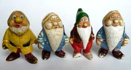 Lot 4 Figurines FIGURINE JIM WALT DISNEY BLANCHE NEIGE ET LES SEPT NAINS - NAIN PROF AVEC CASSES Voir Photos - Disney