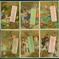 LIEBIG  {: S_0189 : (Calendrier 1887)( 12 FIG) A EP BL - Liebig