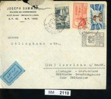BM2110, Syrien, 1950, Damaskus - Iserloh, Luftpost - Syria