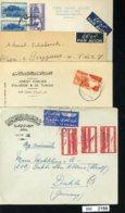 BM2166, Syrien, 4 Bedarfsbriefe, Luftpost - Syrien