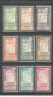 SYRIE Scott 293-297, C103-C106 Yvert 271-275, PA101-PA104 (9) * 32,00 $ 1943 - Syrie (1919-1945)