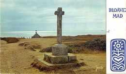 """FINISTERE Saint They ( 2 Volets )-  Carte De Voeux  """" Bloavez Mad """"   ( Edts Jean  - Audierne  -  N° Sans   ) - Châteaulin"""