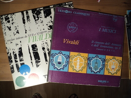 ANTONIO VIVALDI. LOT DE DEUX 33 TOURS. 1958? / 1974 PHILIPS L 00 383 L / TRIMICRON 130 LS 3998. IL CIMENTO DELL ARMONIA - Klassiekers