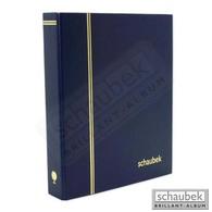 Schaubek Rb3063 Ring Binder Top, Red Blue - Large Format, Black Pages